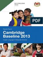 Cambridge Baseline Study 2013