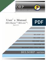 Belsorp Manual