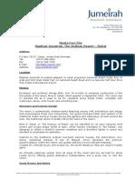 Madinat Jumeirah English Fact File November 2013