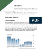 Export Import Statistics of kAZAKHSTAN.
