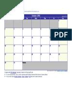 October 2016 Calendar.docx