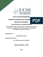 Plan de Proyecto - Perez Tarrillo, Javier ----Modelo