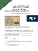 Cuestionario Original de Alfred Adler