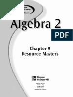 Alg 2 Resource Masters ch9