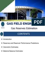 12. Gas Reserves Estimation