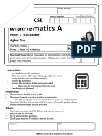 Practice P2 Higher Edexcel 2