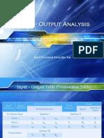 Kuliah 11 - Input - Output Analysis