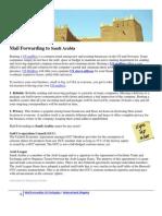 Mail Forwarding to Saudi Arabia