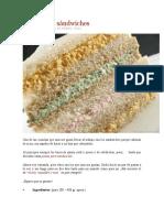 Pastas Para Sándwiches