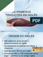 As Primeiras Traduções Em Inglês