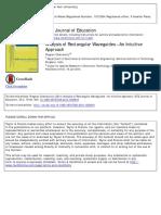 Analysis of Rectangular Waveguides - An Intuitive Approach