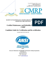CMRP Candidate Guide for Certification and Recertification 10-25-16