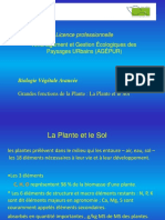 COURS LP Agepur La Plante Et Le Sol 2015