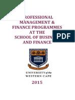 Programmes in Finance