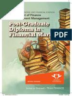 Post Graduate Diploma Financial Markets 2016