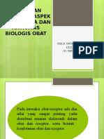 Hubungan Struktur, Aspek Stereokimia Dan Aktivitas Biologis