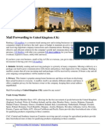 Mail Forwarding to United Kingdom
