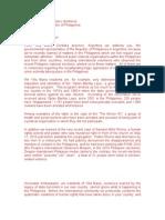 Letter to Filipino Amssador