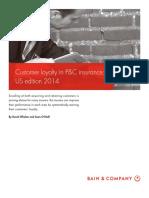 BAIN BRIEF Customer Loyalty in PC Insurance US Edition 2014