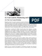 Cost Control, Monitoring and Accounting