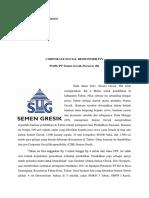 CSR dan Analisis SWOT PT Semen Gresik