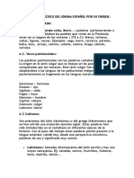 Clasificación Del Léxico Del Idioma Español Por Su Origen