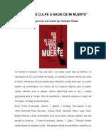 QueNoSeCulpeANadie de Mi Muerte (Humberto Robles, Monologo)