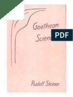 Goethean Science by Rudolf Steiner