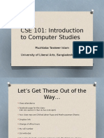 CSE 101 (Lectures 2-3)