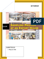 Sampling Process at an Export House