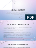 social justice inquiry question