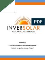 Comparativa Entre Calentadores Solares