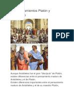 Los Pensamientos Platón y Aristóteles