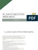 El Juicio Ejecutivo Mercantil