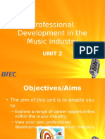 Professional Development in the Music Industry