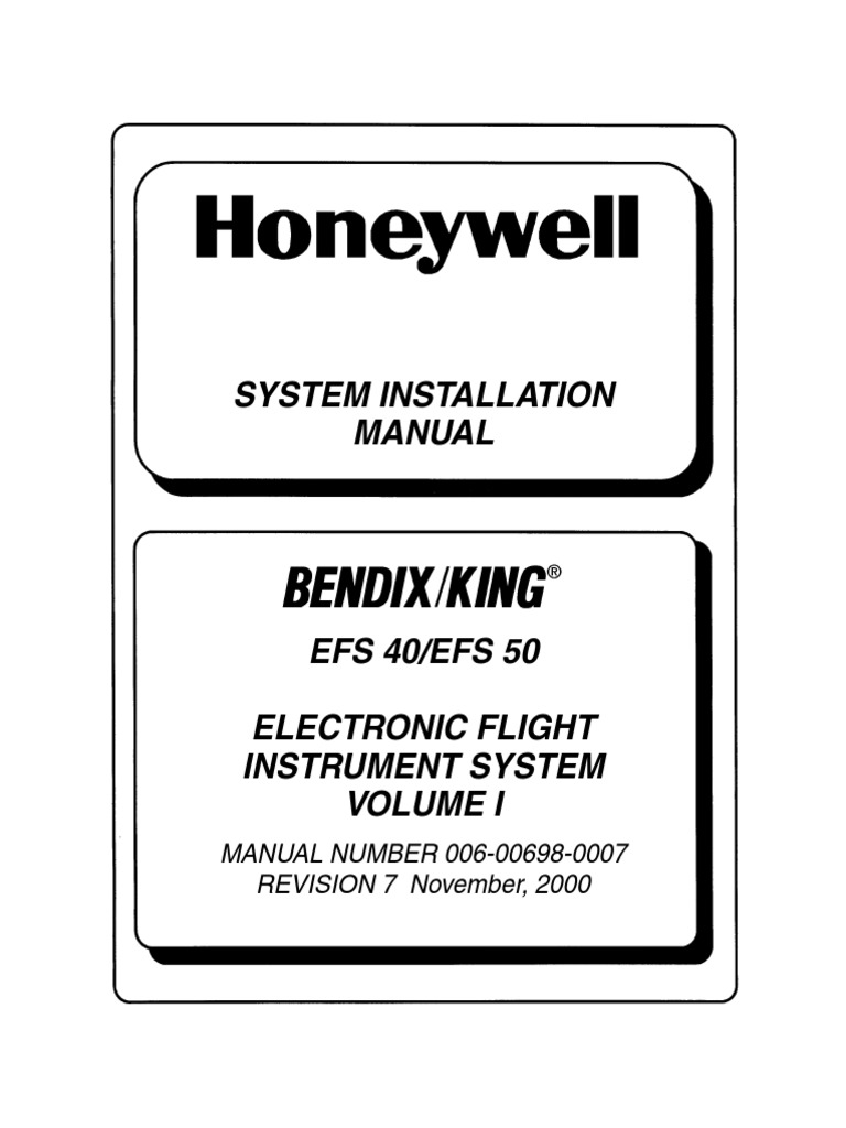 EFIS 40 50 System Install Manual EFS40_50R7 | Aircraft | Systems Engineering
