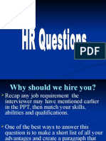 HR Questions PPT