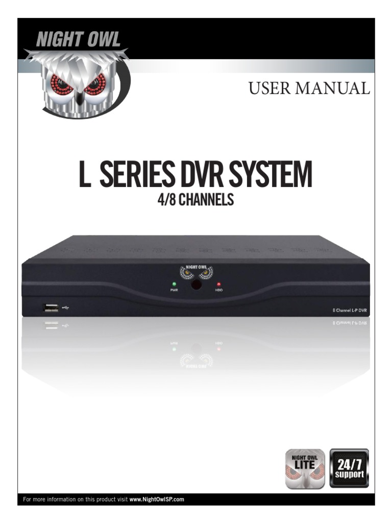 MANUAL-L-DVR8-5GB pdf | Digital Video Recorder | Computer