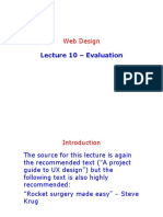 Lecture 10 - Evaluation