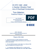 IEEE 1368-2006 Aeolian Vibration Field Measurements