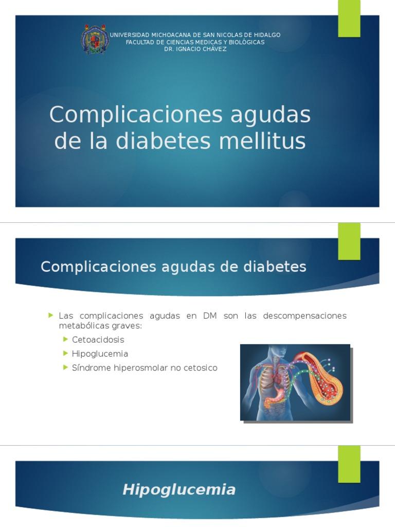 complicaciones agudas de la diabetes mellitus powerpoint