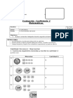 Evaluación coeficiente 2 matematicas 2°