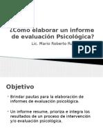 Cómo elaborar un informe de evaluación Psicológica (1)