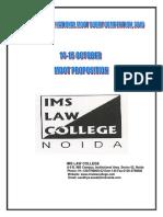 IMSMC Moot Proposition 2016