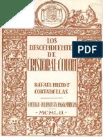 LOS DESCENDIENTES de CRISTÓBAL COLÓN- Rafael Nieto y Cortadellas, Coleccion Alvarado-Davila