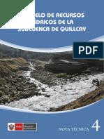 Modelo WEAP Subcuenca de Quillcay