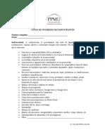 Censo de intereses de participantes del componente de mentoria universitaria del CUA-UPRH