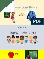 edu214our classroom rules