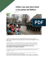El Poderío Militar Ruso Que Hace Temer Una Guerra a Los Países Del Báltico