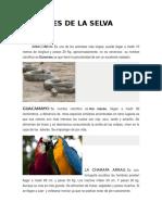 Animales de La Selva,Costa.sierra Del Peru